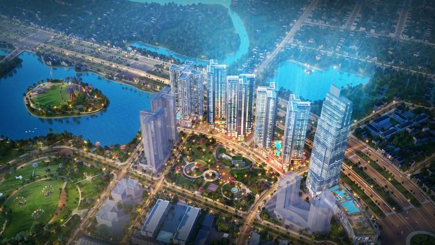 Phối cảnh tổng thể dự án căn hộ chung cư Eco Green Sài Gòn Quận 7 Đường Nguyễn Văn Linh chủ đầu tư Xuân Mai