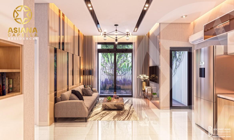Thiết kế phòng khách nhà mẫu căn hộ chung cư SaiGon Asiana quận 6 diện tích 65m2 thiết kế 2 phòng ngủThiết kế phòng khách nhà mẫu căn hộ chung cư SaiGon Asiana quận 6 diện tích 65m2 thiết kế 2 phòng ngủ