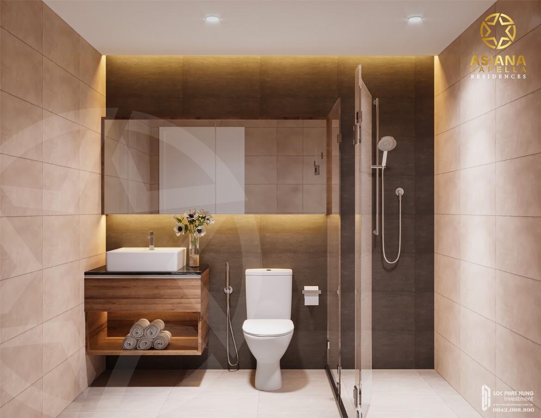 Thiết kế Toilet nhà mẫu căn hộ chung cư SaiGon Asiana quận 6 diện tích 65m2 thiết kế 2 phòng ngủThiết kế Toilet nhà mẫu căn hộ chung cư SaiGon Asiana quận 6 diện tích 65m2 thiết kế 2 phòng ngủ