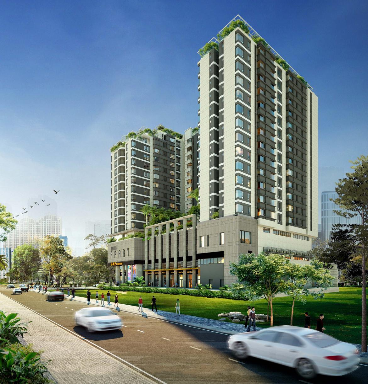 Phối cảnh tổng thể dự án căn hộ chung cư Asiana Summer City Quận 12 Đường Song Hành chủ đầu tư Gotec Land