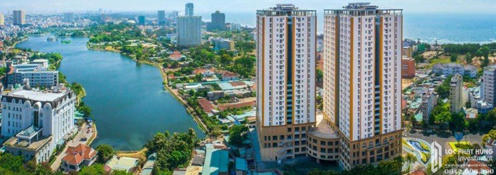 Phối cảnh tổng thể dự án căn hộ Căn hộ chung cư Melody Vung Tau Đường Võ Thị Sáu chủ đầu tư Hưng Thịnh Corp