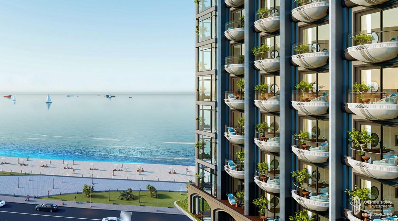 Phối cảnh tổng thể án căn hộ Condotel Oyster Gành Hào Đường 82 Trần Phú chủ đầu tư Vietpearl Group