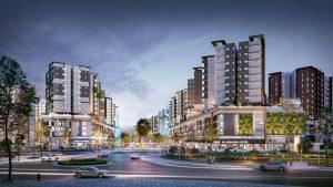 Bán shophouse S1-0-19 ngay mặt tiền phố đi bộ Gamuda dự án Celadon City, diện tích 535m2, căn góc cạnh thác nước đẹp nhất dự án