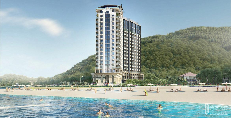 Phối cảnh tổng thể dự án căn hộ Condotel Oyster Gành Hào Đường 82 Trần Phú chủ đầu tư Vietpearl Group