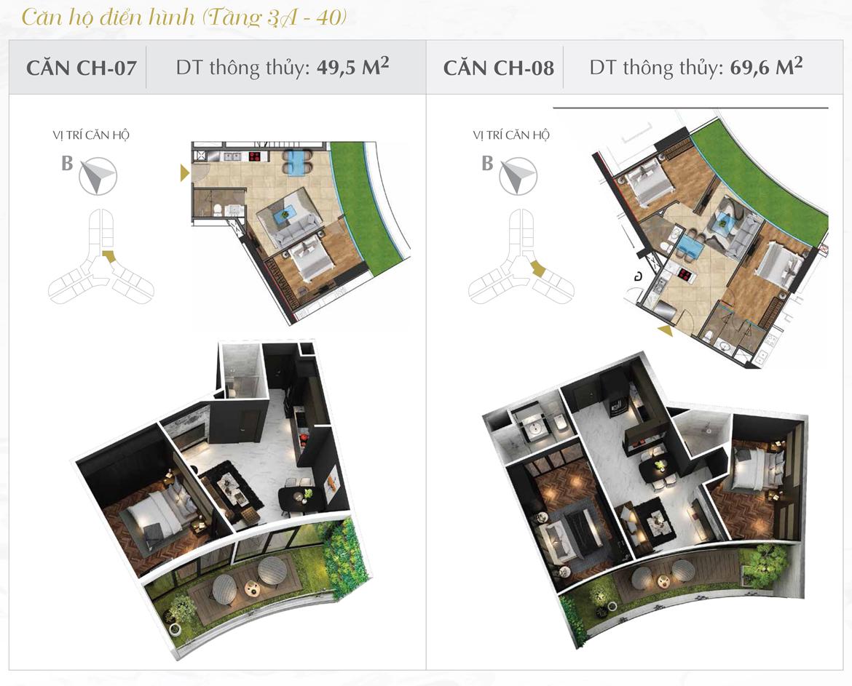 Thiết kế chi tiết căn hộ số 07 và 08 dự án Sunshine Diamond River Quận 7