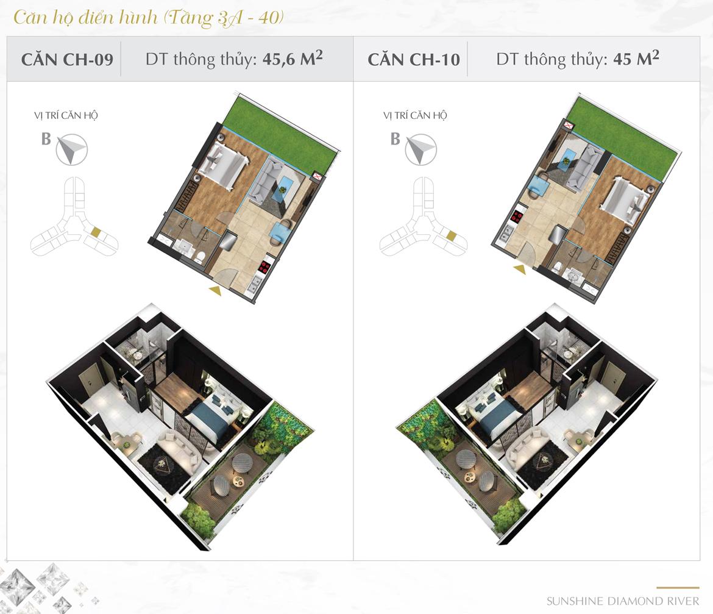 Thiết kế chi tiết căn hộ số 09 và 10 dự án Sunshine Diamond River Quận 7