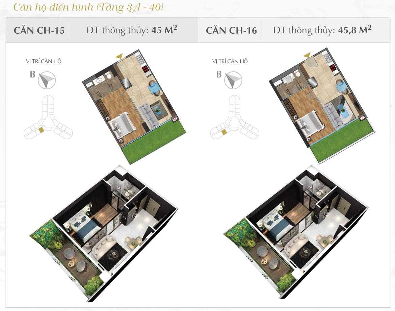 Thiết kế chi tiết căn hộ số 15 và 16 dự án Sunshine Diamond River Quận 7