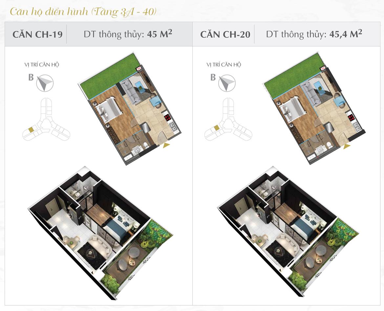 Thiết kế chi tiết căn hộ số 19 và 20 dự án Sunshine Diamond River Quận 7