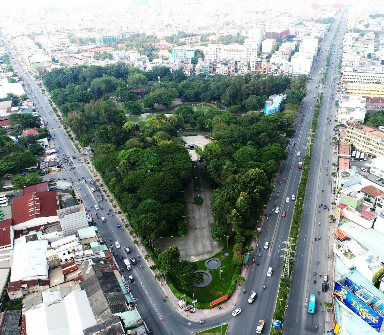 Tiện ích ngoại khu dự án căn hộ chung cư Saigon Asiana Quận 6 đường Nguyễn Văn Luông - Công Viên Phú Lâm cách 2km dự án Saigon Asiana.