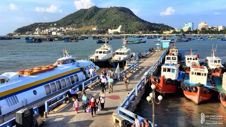 Bến thuyền tàu cánh ngầm cách 6 phút di chuyển từ dự án condotel The Sóng Vũng Tàu