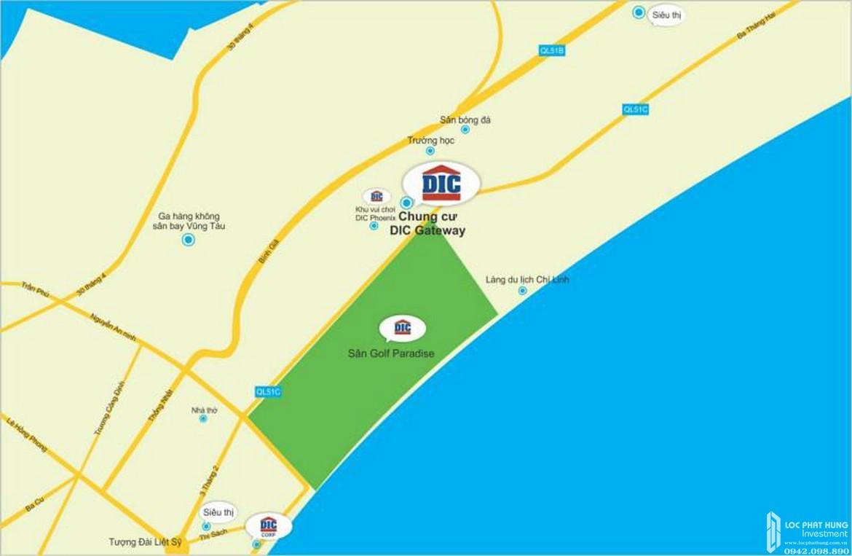 Vị trí địa chỉ dự án căn hộ chung cư Vũng Tàu Gateway Vũng Tàu  Đường 3/2 chủ đầu tư DIC Corp