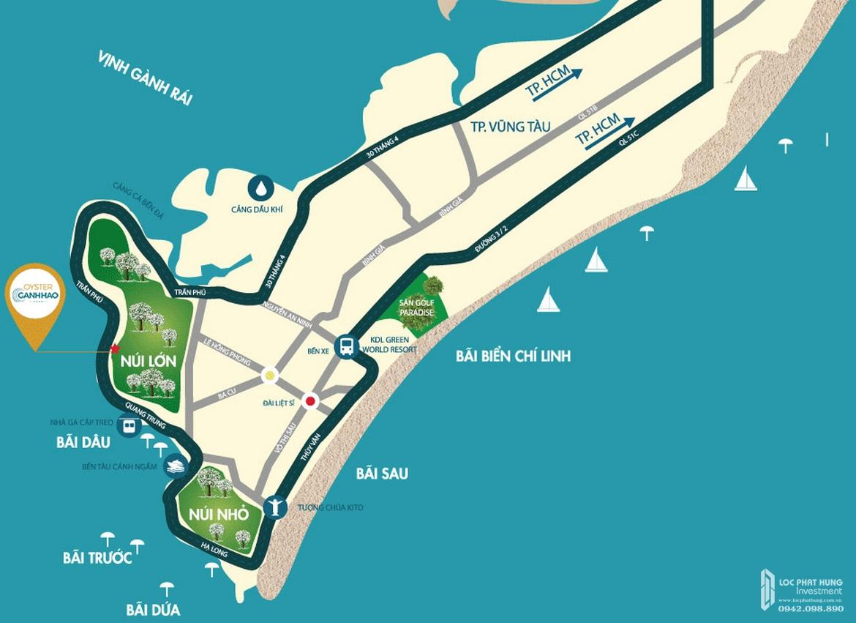 Vị trí địa chỉ dự án căn hộ Condotel Oyster Gành Hào Đường 82 Trần Phú chủ đầu tư Vietpearl Group