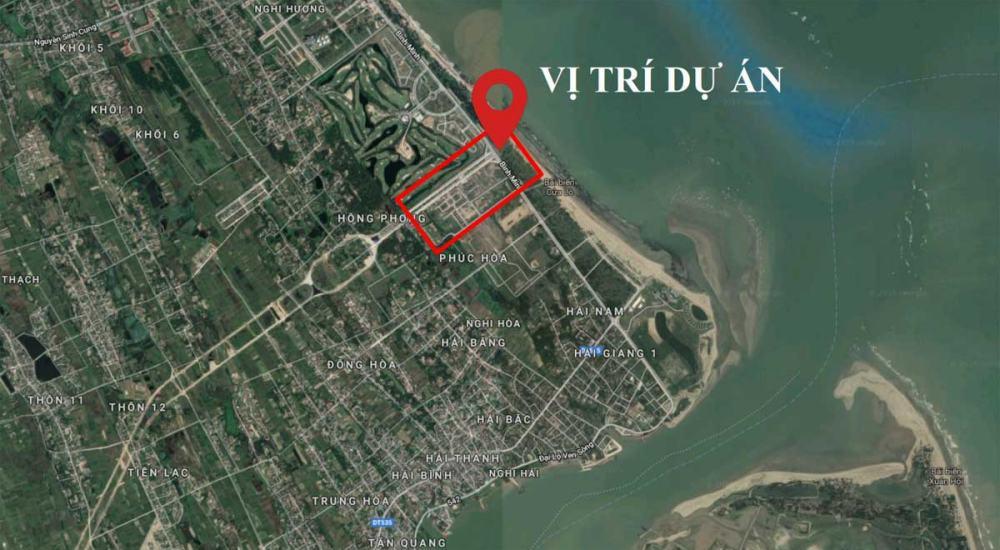 Vị trí dự án Cửa Lò Beach Villa Nghệ An trên Google Map
