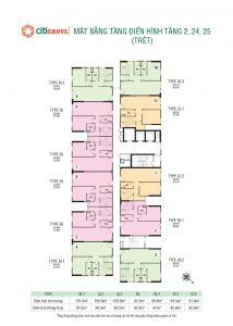 Mặt bằng chi tiết dự án căn hộ Citi Grand Quận 2
