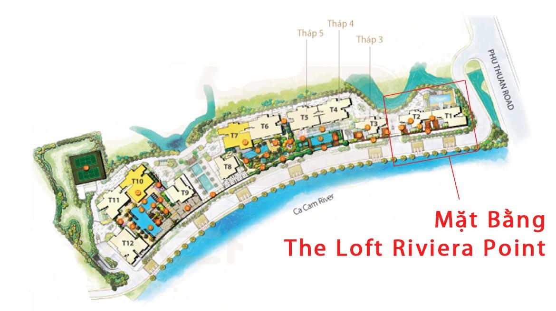 Mặt bằng dự án căn hộ chung cư The Loft Riviera Point Quận 7 Đường Huỳnh Tấn Phát chủ đầu tư Keppel Land