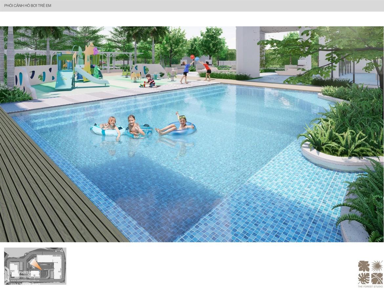 Tiện ích hồ bơi trẻ em trong nội khu dự án căn hộ chung cư C Sky View Bình Dương