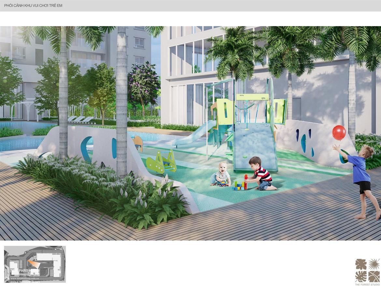 Tiện ích công viên nội khu dự án căn hộ chung cư C Sky View Bình Dương