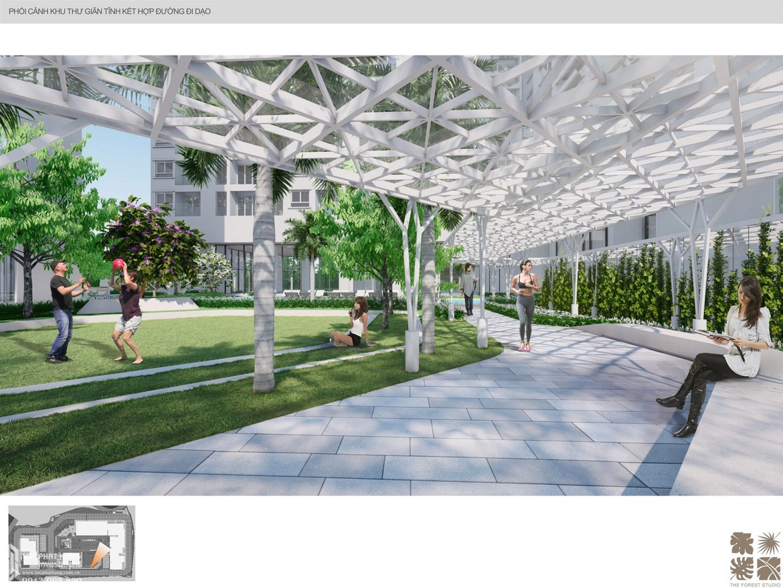 Đường chạy bộ nội khu dự án căn hộ chung cư C Sky View Bình Dương