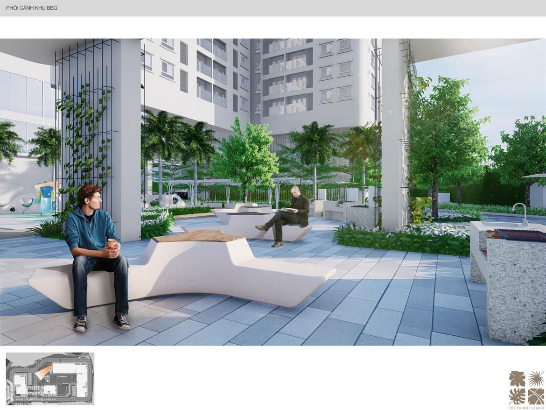 Khu đọc sách thư giãn nội khu dự án căn hộ chung cư C Sky View Bình Dương