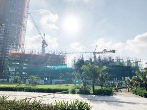 Tiến độ xây dựng dự án căn hộ chung cư Eco Green Sài Gòn ngày 22/08/2019