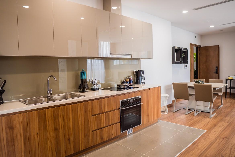 Thiết kế khu vực bếp nhà mẫu căn hộ 3 phòng ngủ dự án Eco Green Sài Gòn Quận 7