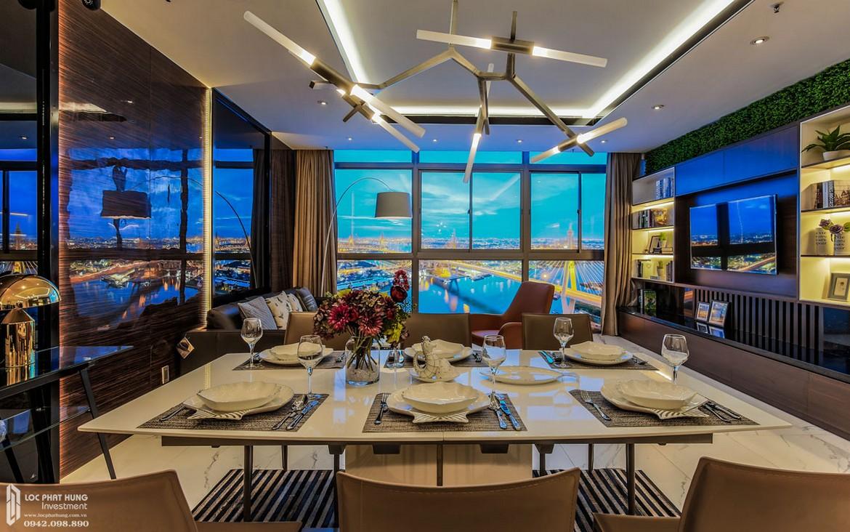 Thiết kế phòng khách nhà mẫu dự án căn hộ chung cư Panomax River Villa Quận 7 Đường Đào Trí chủ đầu tư TTC LAND