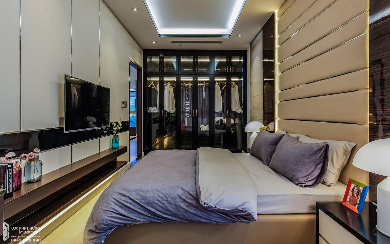Thiết kế phòng Master phòng khách nhà mẫu dự án căn hộ chung cư Panomax River Villa Quận 7 Đường Đào Trí chủ đầu tư TTC LAND