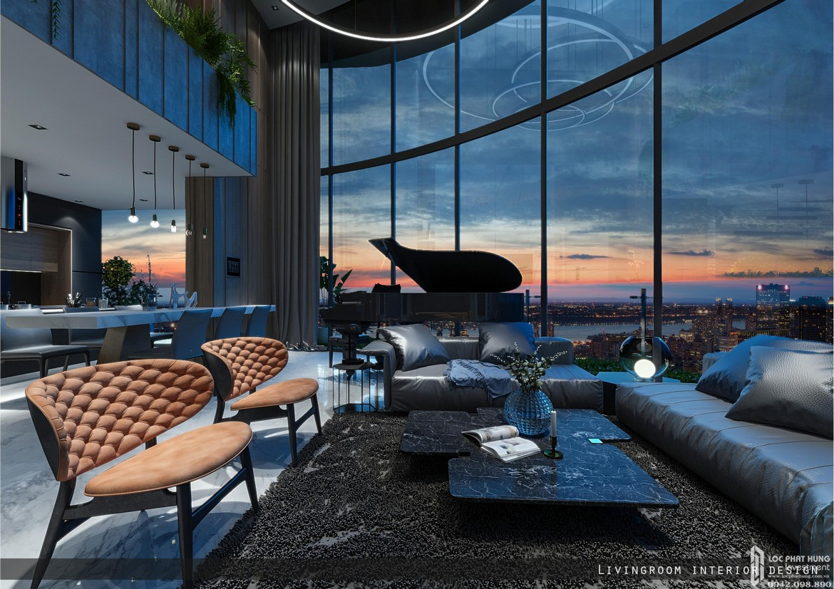nha mau can penthouse du an sunshine diamond river