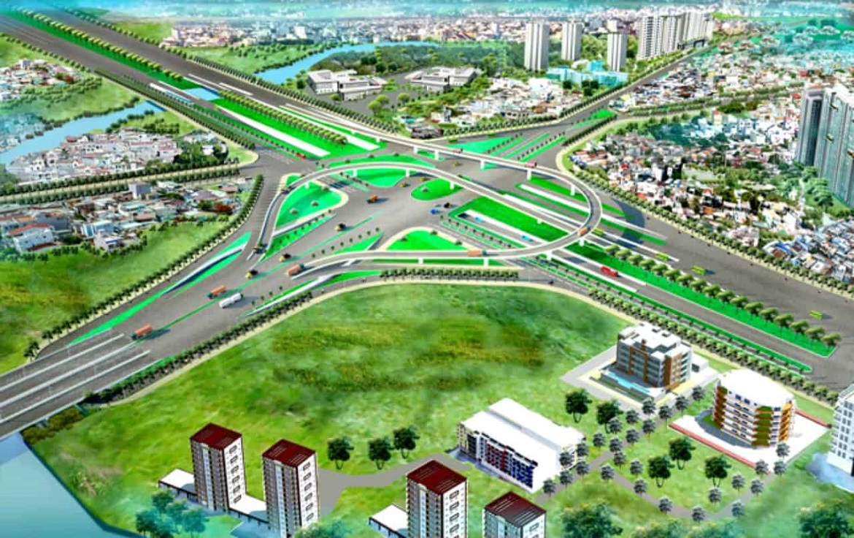 Nút giao thông Nguyễn Hữu Thọ và Nguyên Văn Linh chuẩn bị thi công