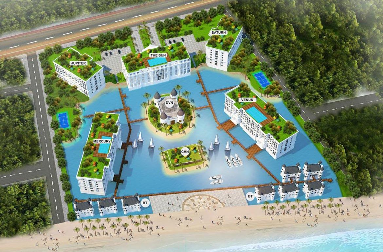 Phối cảnh dự án căn hộ condotel Hội An Golden Sea Đường Nguyễn Phan Vinh chủ đầu tư Hòa Bình