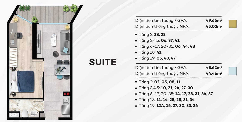 Thiết kế chi tiết căn hộ du lịch condotel The Sóng Vũng Tàu