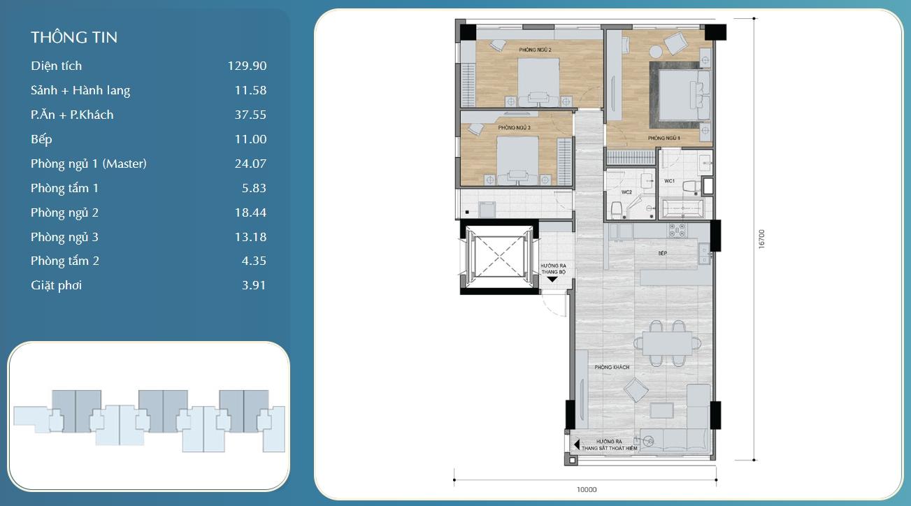 Thiết kế chi tiết căn hộ chung cư Panomax River Villa Quận 7