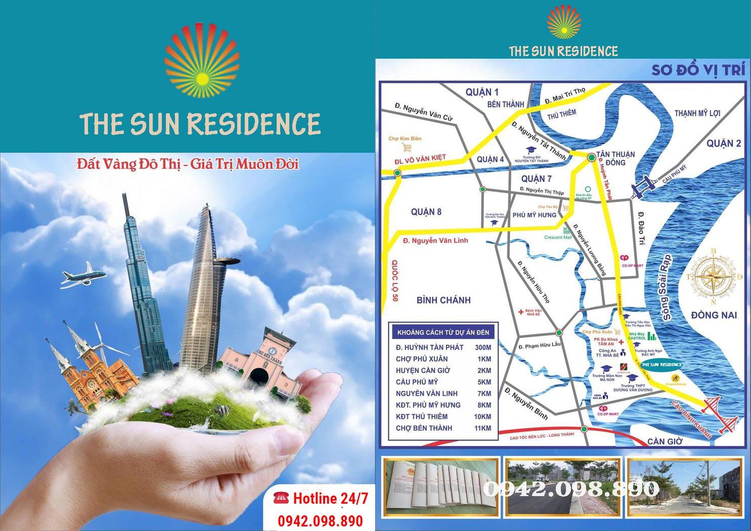 Vị trí dự án The Sun Residence Nhà Bè tọa lạc ngay trung tâm thị trấn Nhà Bè – huyện Nhà Bè thành phố HCM