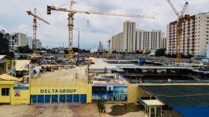 Tiến độ xây dựng căn hộ + Officetel dự án Laimian City 09/2019