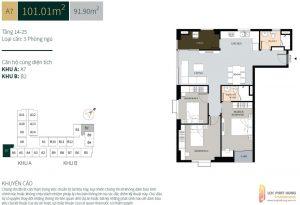 Thiết kế chi tiết các căn hộ La Cosmo Residences Quận Tân Bình