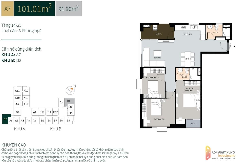La Cosmo Residences a7 101m2