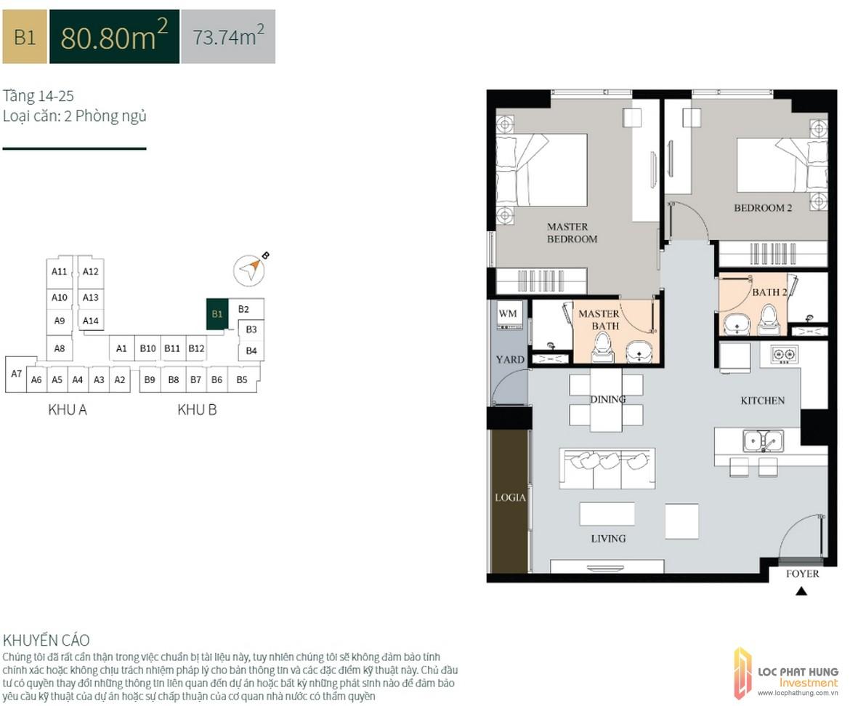 La Cosmo Residences b1 80 8m2