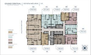 Mặt bằng chi tiết dự án căn hộ Grand Central Quận 3