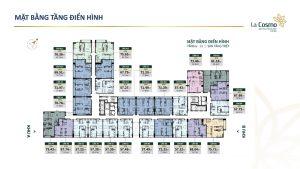Mặt bằng thiết kế căn hộ La Cosmo Residences Quận Tân Bình