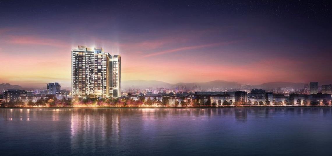 Phối cảnh bên Sông Sài Gòn dự án căn hộ chung cư Define Quận 2 Đường Thạnh Mỹ Lợi chủ đầu tư Captaland