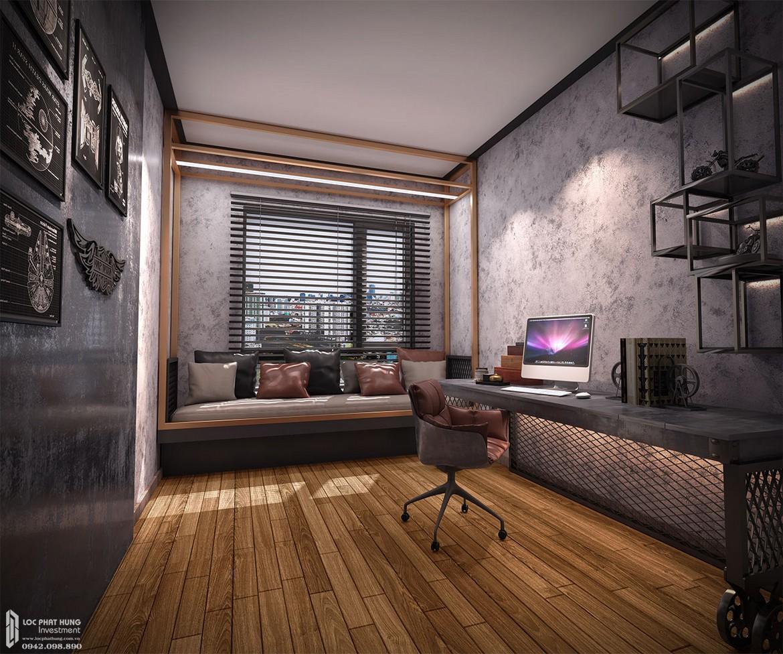 Thiết kế khu vực phòng ngủ Master căn hộ mẫu dự án căn hộ Define Capitaland Quận 2.
