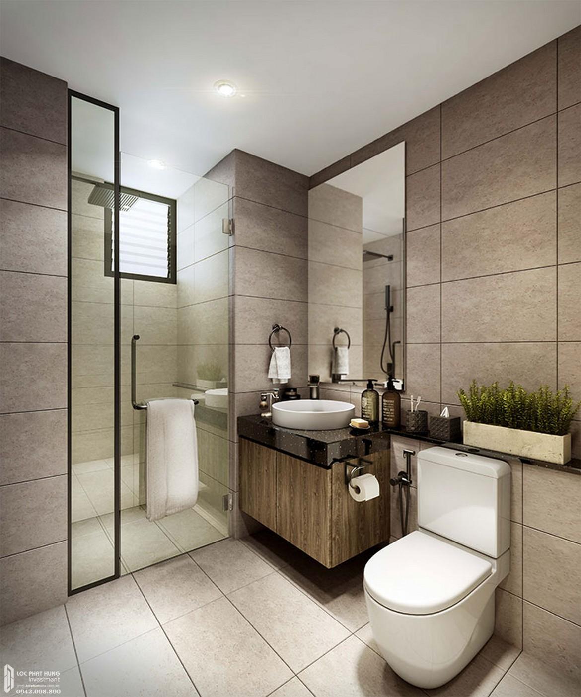 Thiết kế khu vực Toilet Master căn hộ mẫu dự án căn hộ Define Capitaland Quận 2.