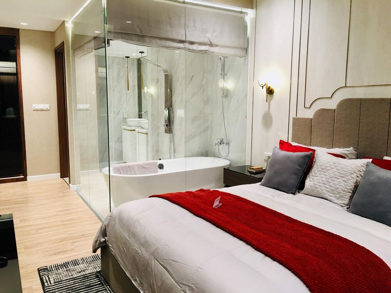 Không gian phòng ngủ căn duplex