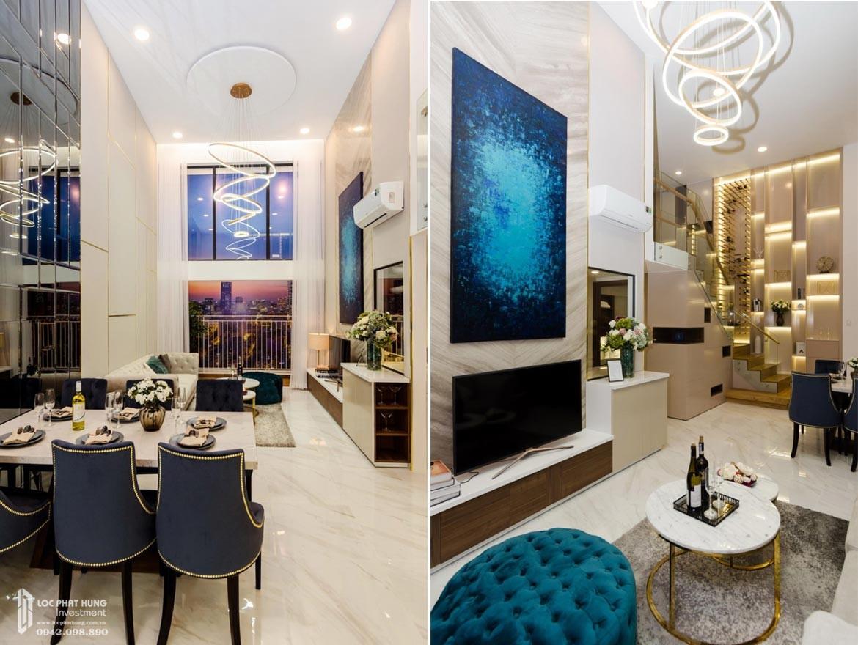 Thiết kếphong khách căn hộ mẫu có lửng dự án chung cư La Consmo Residences Quận Tân Bình – Liên Hệ SGD BĐS Lộc Phát Hưng 0942.098.890 Xem nhà mẫu + Nhận báo giá