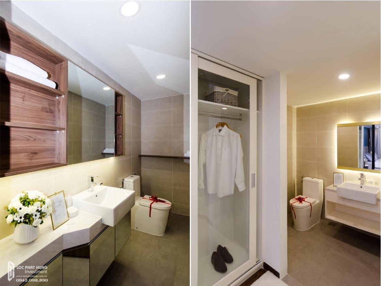 Thiết kế khu vực Toilet phòng khách căn hộ mẫu có lửng dự án chung cư La Consmo Residences Quận Tân Bình – Liên Hệ SGD BĐS Lộc Phát Hưng 0942.098.890 Xem nhà mẫu + Nhận báo giá