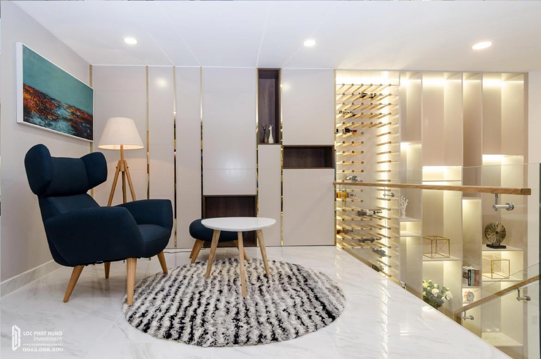 Thiết kế khu vực thư giãn tầng lửng căn hộ mẫu có lửng dự án chung cư La Consmo Residences Quận Tân Bình – Liên Hệ SGD BĐS Lộc Phát Hưng 0942.098.890 Xem nhà mẫu + Nhận báo giá