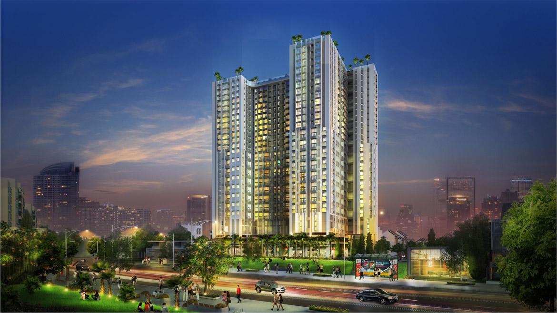 Phối cảnh tổng thể dự án căn hộ chung cư La Cosmo Residences Quận Tân Bình Đường Hoàng Văn Thụ chủ đầu tư An Gia Hưng