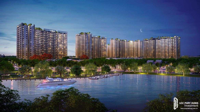 Công viên ven sông dự án căn hộ chung cư Picity High Park Quận 12