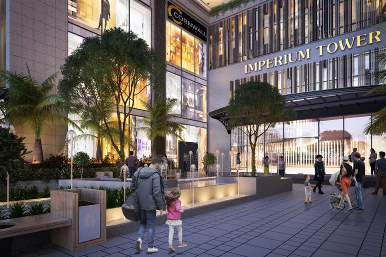 Lối vào phong cách Phục Hưng Châu Âu dự án căn hộ chung cư Imperium Town Nha Trang Đường Phước Long chủ đầu tư Indochine Nha Trang