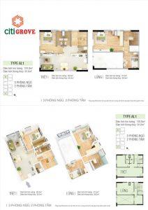 Thiết kế dự án căn hộ Citi Grove Quận 2 đường KĐT Cát Lái Quận 2